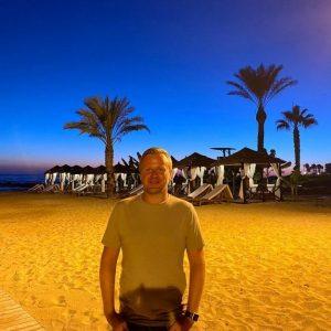 Mark swords on beach