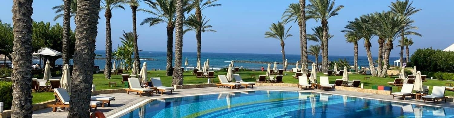 Cyprus pool and beach